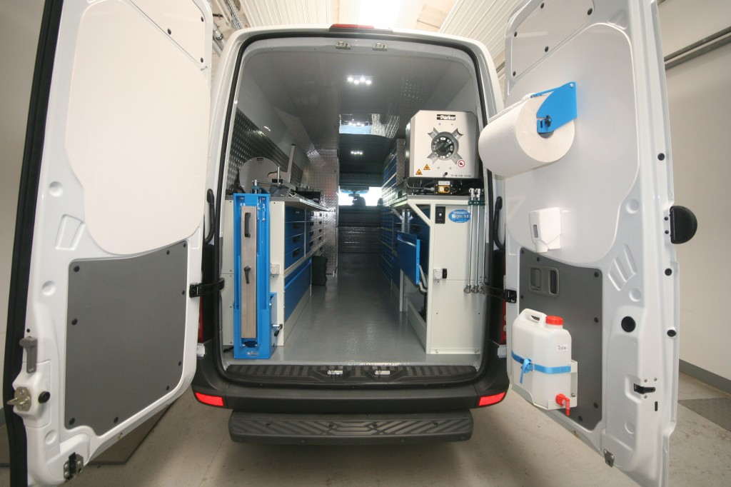 Mobile Workshop For Repairing And Maintaining Hydraulic Hoses