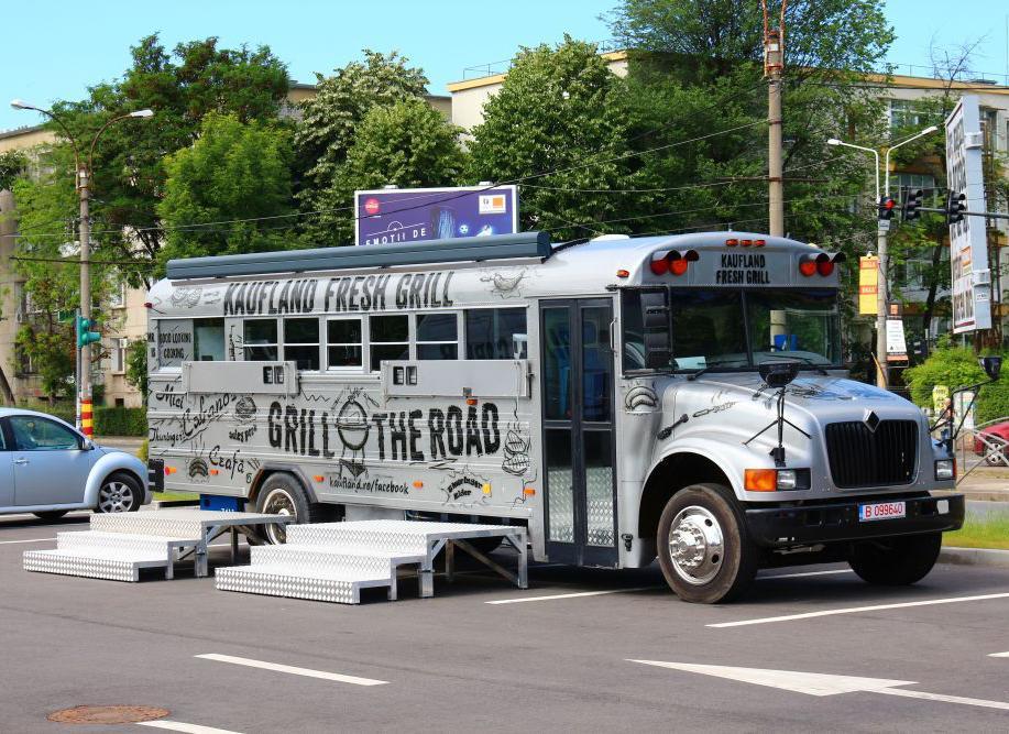 School Bus As A Food Truck